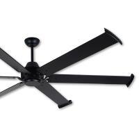阿拉斯加 MEGA工業風吊扇84吋-遙控-黑色