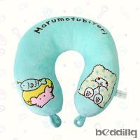 BEDDING-三麗鷗正版授權U型頸枕-高級短絨布-毛毯熊莫普