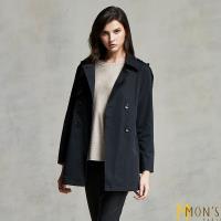MONS 簡約率性收腰排扣風衣外套