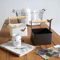 收納職人 北歐簡約時尚鐵製木棍手提收納盒(二色任選)
