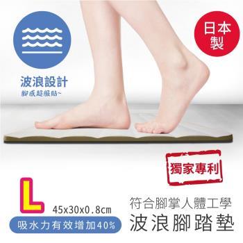 森呼吸矽藻土-波浪造型矽藻土腳踏墊_45x30x0.9cm 精緻版