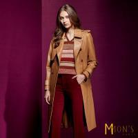 MONS經典名牌款Nappa長版風衣羊皮外套