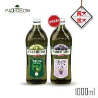 義大利法奇歐尼 經典果香特級冷壓初榨橄欖油+葡萄籽油 1L 各1入