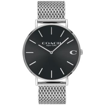 COACH 經典米蘭帶紳士腕錶/黑/41mm/14602144