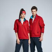 【SPAR】空氣梯形格布中性款外套S198608紅色