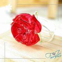 【伊飾童話】熱戀凡爾賽光透玫瑰戒指