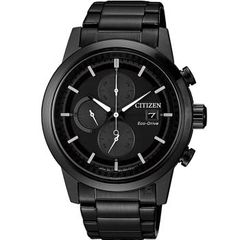 CITIZEN 急速傳說光動能計時腕錶(CA0615-59F)43mm