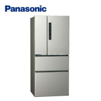 送吸濕毯★ Panasonic國際牌 一級能效 610L四門變頻電冰箱(絲紋灰)NR-D610HV-L (庫)
