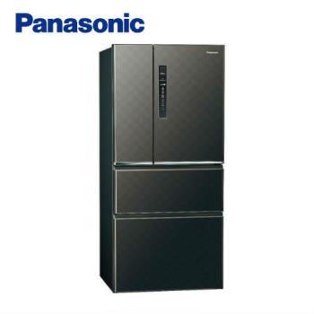 送吸濕毯★ Panasonic國際牌610L一級能效四門變頻電冰箱(絲紋黑)NR-D610HV-V (庫)