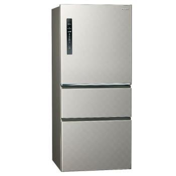 Panasonic國際牌610L一級能效三門變頻電冰箱(銀河灰)NR-C610HV-L (庫)