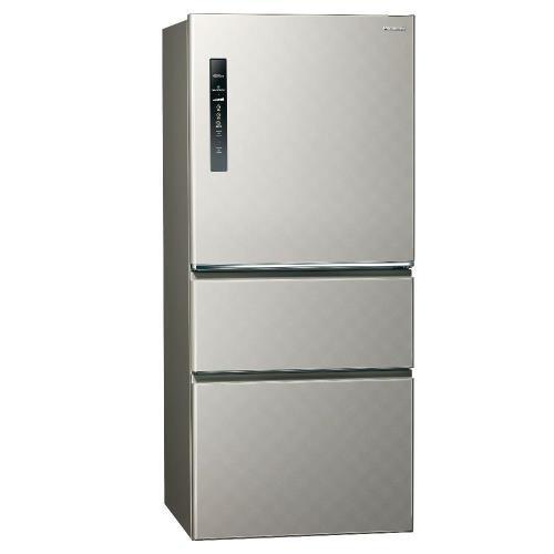 Panasonic國際牌610L一級能效三門變頻電冰箱(絲紋灰)NR-C610HV-L