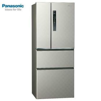 買就送雙面砧板+陶瓷刀★Panasonic國際牌500公升一級能效變頻四門電冰箱(絲紋灰)NR-D500HV-L (庫)