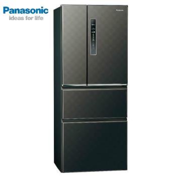 Panasonic國際牌500公升一級能效變頻四門電冰箱(絲紋黑)NR-D500HV-V (庫)