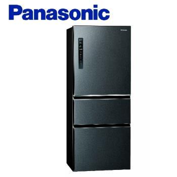 送吸濕毯★Panasonic國際牌500公升一級能效變頻三門電冰箱(絲紋黑)NR-C500HV-V (庫)