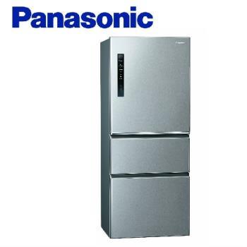 送吸濕毯★Panasonic國際牌500公升一級能效變頻三門電冰箱(絲紋灰)NR-C500HV-L (庫)