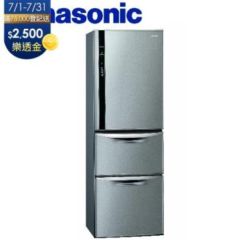 Panasonic國際牌385公升一級能效三門變頻電冰箱(絲紋灰)NR-C389HV-L (庫)