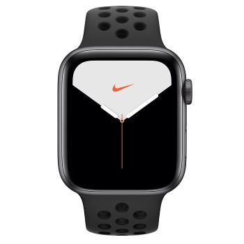 Apple Watch Nike S5(GPS)40mm太空灰色鋁金屬錶殼+黑色Nike運動錶帶 智慧型手錶