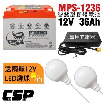 [組合]MPS1236攤販電池套組12V36Ah/露營.攤販.釣魚.野營.創業.鹹水雞攤.QQ球