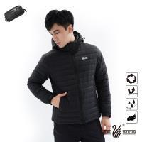 【遊遍天下】男款防潑水防風保暖可拆帽90%羽絨外套GJ22011黑色
