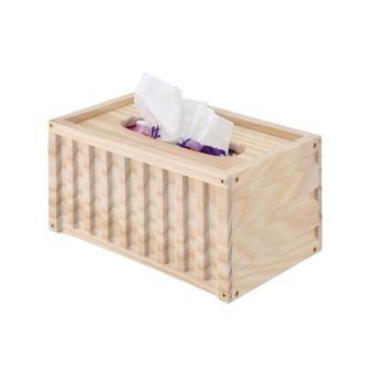 揚亦City 台灣製質感木色貨櫃造型面紙盒 紙巾盒
