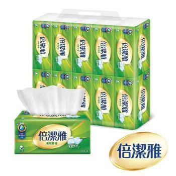 倍潔雅 柔軟舒適抽取式衛生紙150抽x10包x8袋