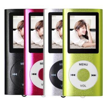 加贈32GB記憶卡 超薄炫彩1.8吋插卡式MP3/MP4隨身聽