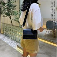 【KISSDIAMOND】新潮時尚百搭斜單肩拼色小方包(肩背/斜背/輕巧/黑色)