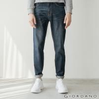 GIORDANO 男裝基本款中腰錐形牛仔褲-95 深藍