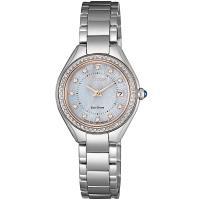 CITIZEN 星辰 LADYS光動能璀璨晶鑽腕錶/26mm/EW2556-83Y