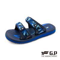 G.P 女款簡約織帶風格雙帶拖鞋G0573W-藍色(SIZE:36-39 共三色)