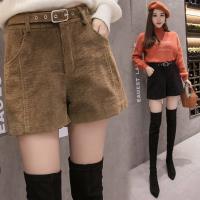 零國界衣店   S-XL  高腰闊腿A字燈芯絨短褲(預購)