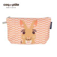 COQENPATE  法國有機棉無毒環保化妝包 / 筆袋- 畫筆兒的家 - 兔子