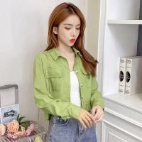 零國界衣店   M-2XL 短版簡約長袖襯衫(預購)