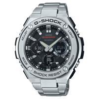 【CASIO 卡西歐】G-STEEL 系列不鏽鋼太陽能電力手錶(GST-S110D-1A)