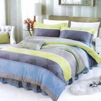 Victoria 新科技天絲抗菌吸濕排汗五件式雙人床罩組-簡約