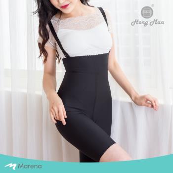 【Marena】強效完美塑形系列 腹部加強美體膝上型塑身衣 (可拆式肩帶) 黑色