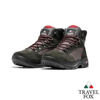 TRAVEL FOX(男) 山之語  歐系登山越野防水禦寒防震專業戶外登山鞋 - 灰粉灰
