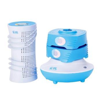 GW水玻璃 直桶疊疊樂除濕機4件組-藍色
