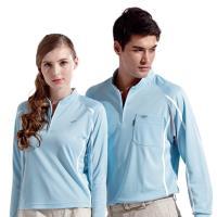 【Londa Polo】吸濕排汗男版長袖POLO衫P91533淺水藍色