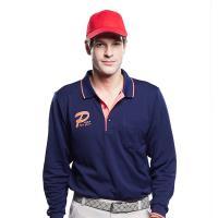 【Londa Polo】雙棉PK吸排布男版長袖POLO衫P59665黑藍色