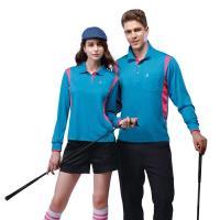 【SPAR】吸濕排汗女版長袖POLO衫SP77412亮藍色