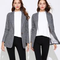 麗質達人 - 1072灰色短版西裝外套