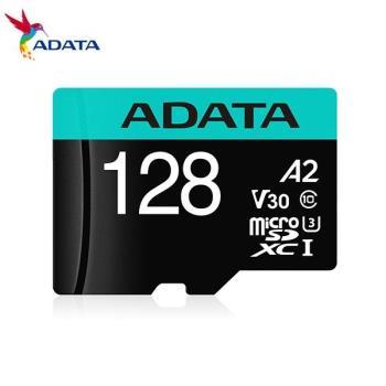 威剛 Premier Pro microSDXC UHS-I U3 A2 V30 128G記憶卡(附轉卡)
