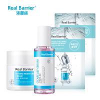 Real Barrier沛麗膚 B12精華保養4件組 (B12煥白色修精華40ml+竹炭舒緩濃縮精華黑面膜x2+潤澤水凝霜50m)