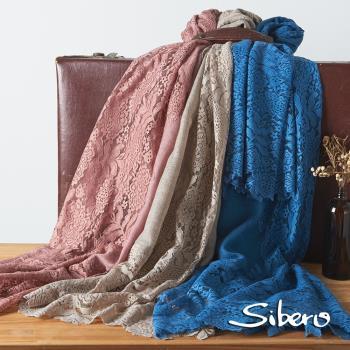 【Sibero】100% Shamina 喀什米爾羊毛奢華手工蕾絲圍巾披肩(專櫃精品 柔軟富彈性)