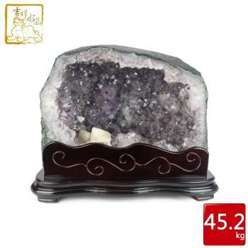 吉祥水晶 巴西紫水晶洞 45.2kg 土型晶洞