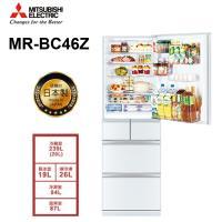 登記送氣炸鍋+最高10%東森幣  MITSUBISHI三菱 455L日本製一級能效五門變頻冰箱(水晶白)MR-BC46Z