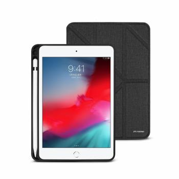 JTLEGEND iPad mini 2019 Amos 7.9 吋 相機快取多角度折疊布紋皮套(含Apple pencil槽)