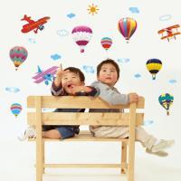 【半島良品】DIY無痕創意牆貼/壁貼-繽紛熱氣球 AY622小
