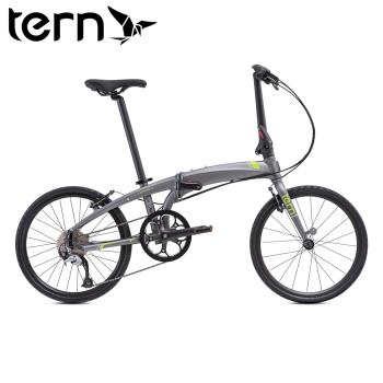 Tern 2019 Verge D9 22吋9速451輪組鋁合金折疊單車-青銅底綠標白線